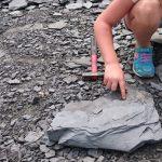 Steine klopfen im Steinbruch