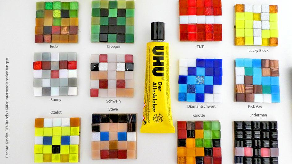 Steve, Diamantschwert, Ozelot, Lucky Stone, Minecraft Erde Block