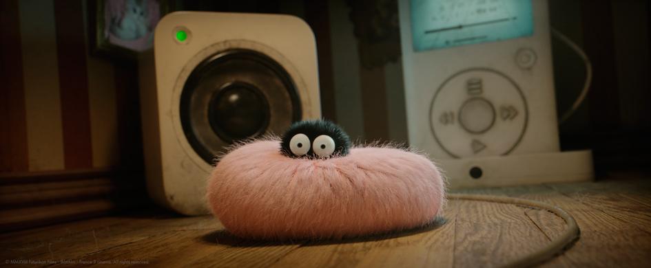 Kinofilm und Kinder Bastelidee Spinne aus Pompoms