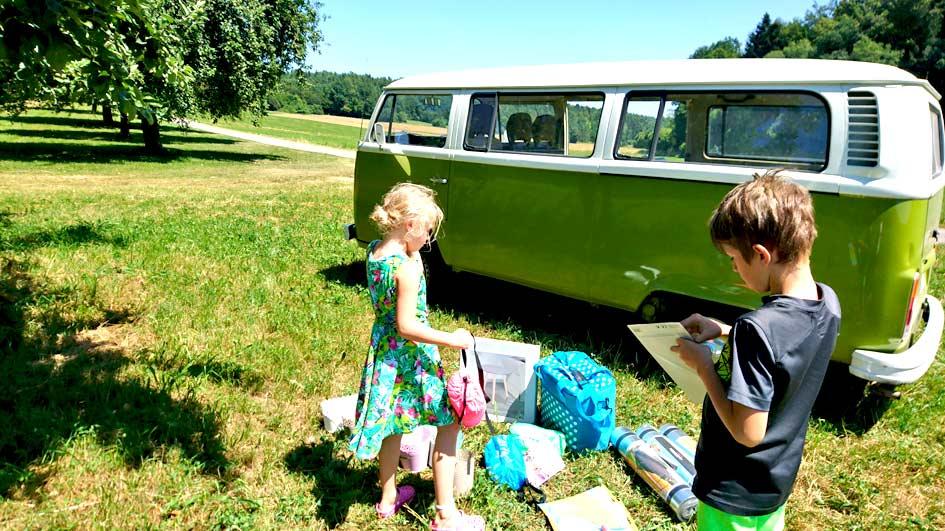 Mit dem VW T2 zum Familienausflug und Picknick