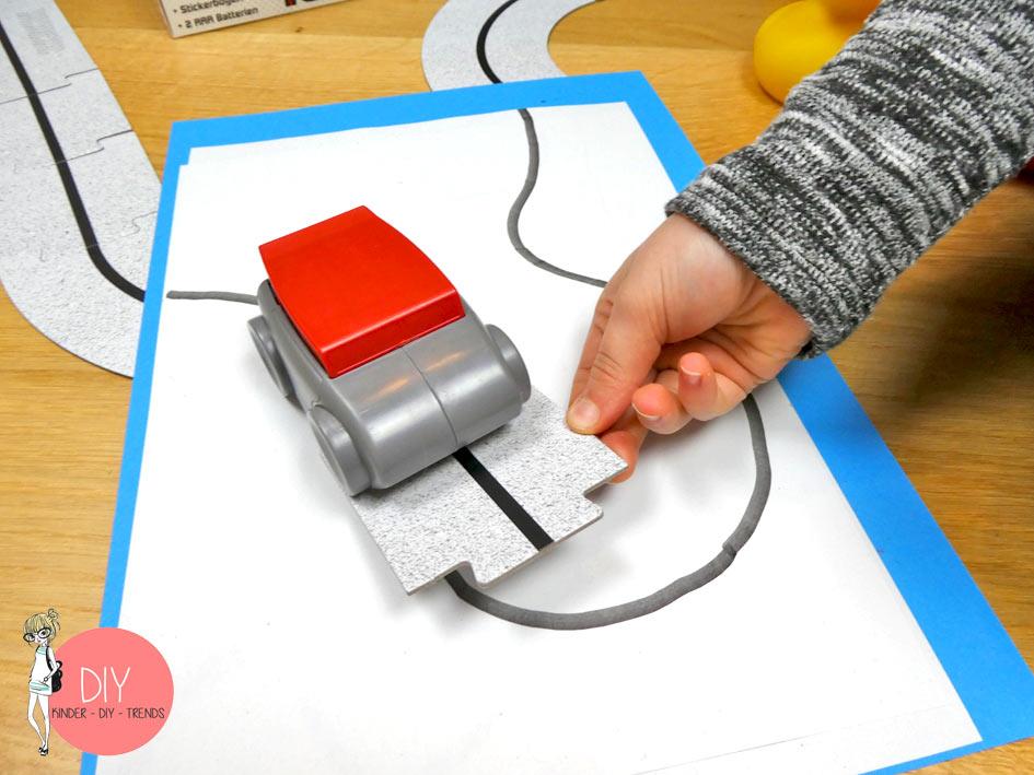 Roadliner Experiment mit Sensor Erkennung
