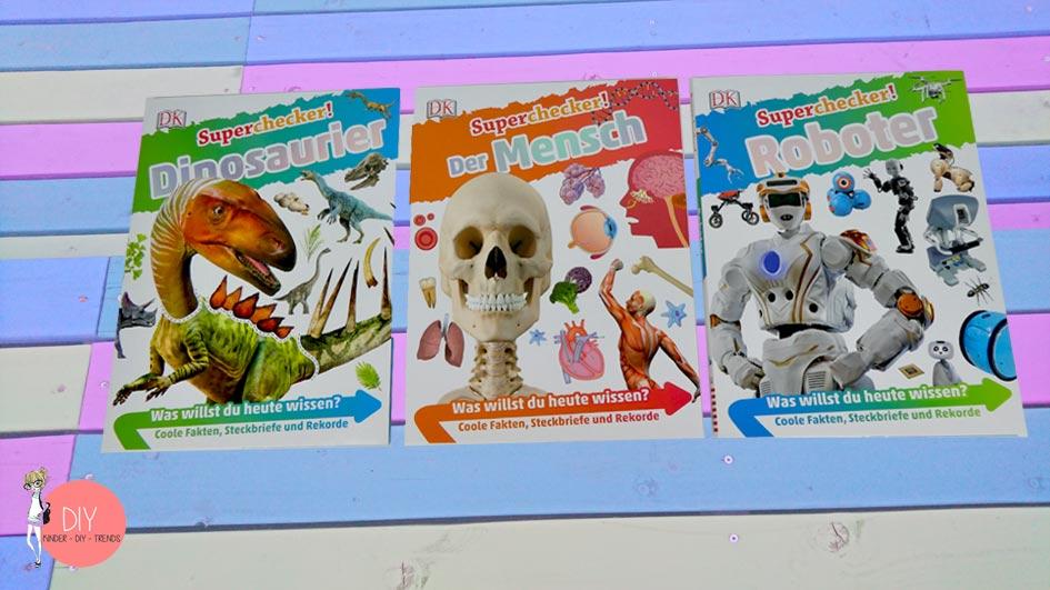 Superchecker Wissensbücher für Kinder - Bildlexikon Roboter, Mensch und Dinosaurier