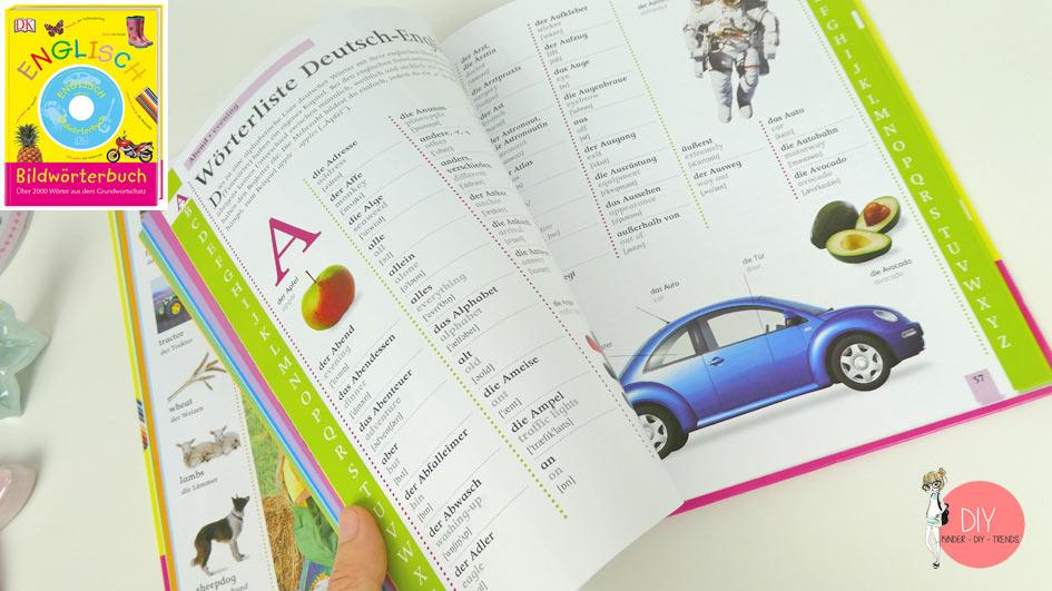 Erster Wörterbuch auf Englisch mit Bildern