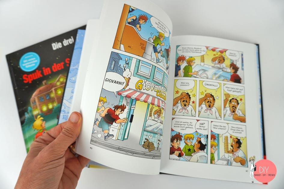 Die drei ??? Kids Comic und Schulbuch für Erstleser