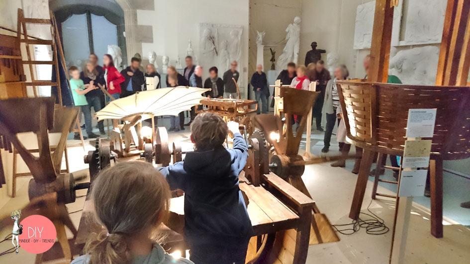 Erfindungen von Leonardo da Vinci selber ausprobieren