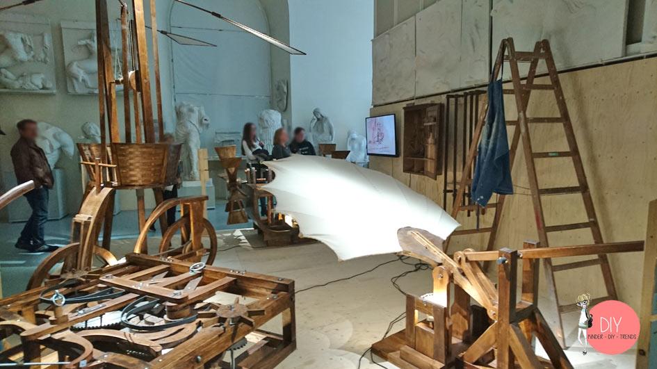 Erfindungen von Leonardo da Vinci im Museum der Universität Tübingen - Familienausflug Blogger
