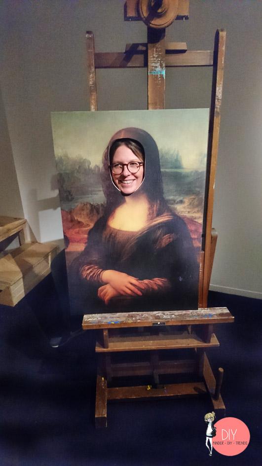 Mona Lisa als Fotowand - Blogger Selfie