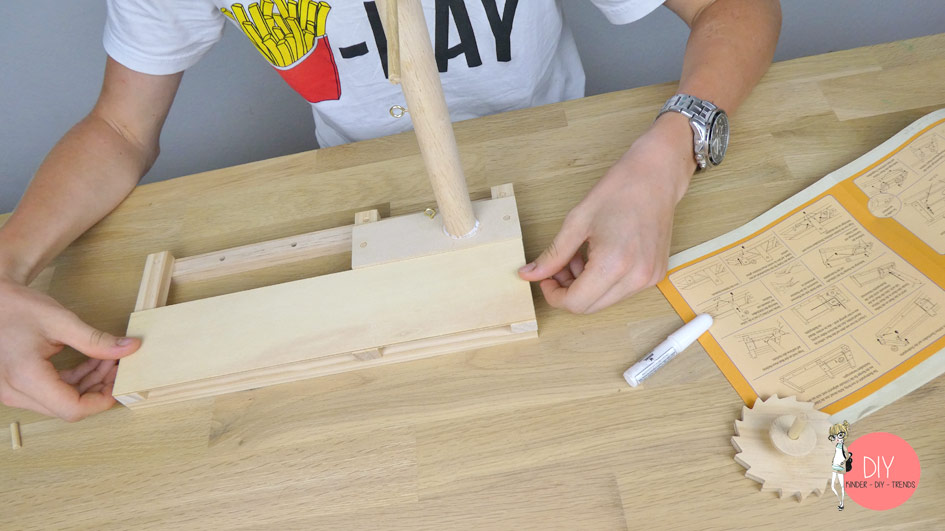 Katapult Trebuchet von Leonardo da Vinci nachbauen mit dem Holzbauset