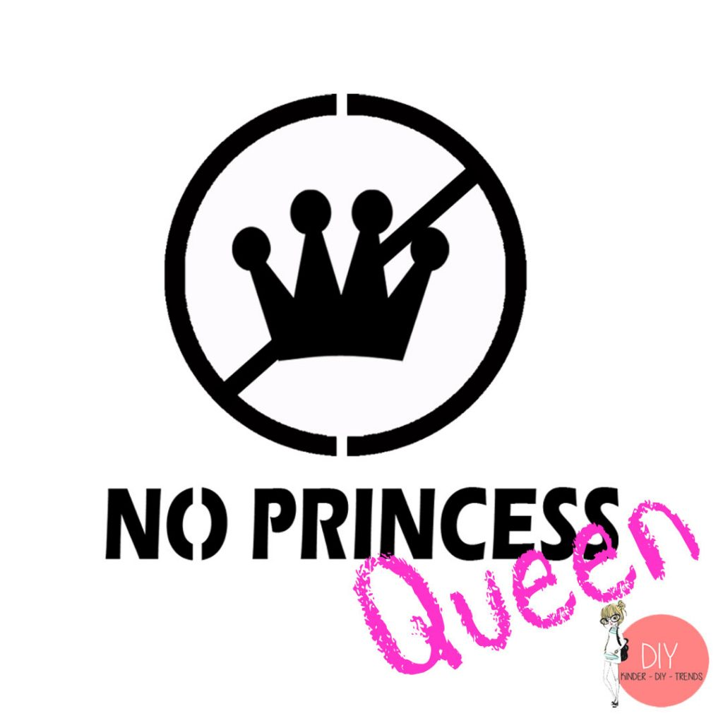 No Princess Schriftzug Lettering Vorlage Download gratis