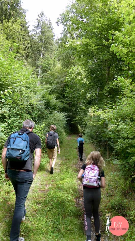 Spaziergang in den Wald mit Kindern