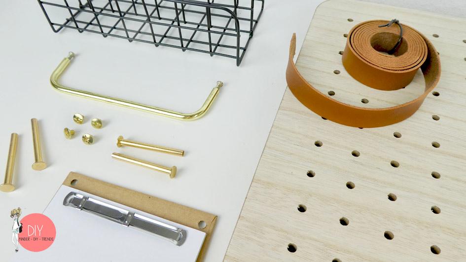 Pin und Peg Pinnwand Material Einzelteile für unsere DIY Ordnungswand