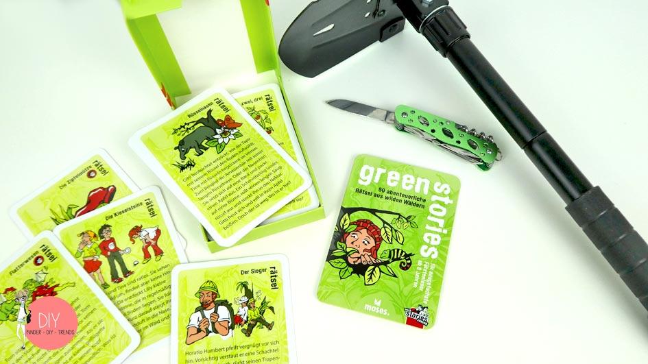 Green Stories - Geschichten raten Spiel für den Wald für Kinder