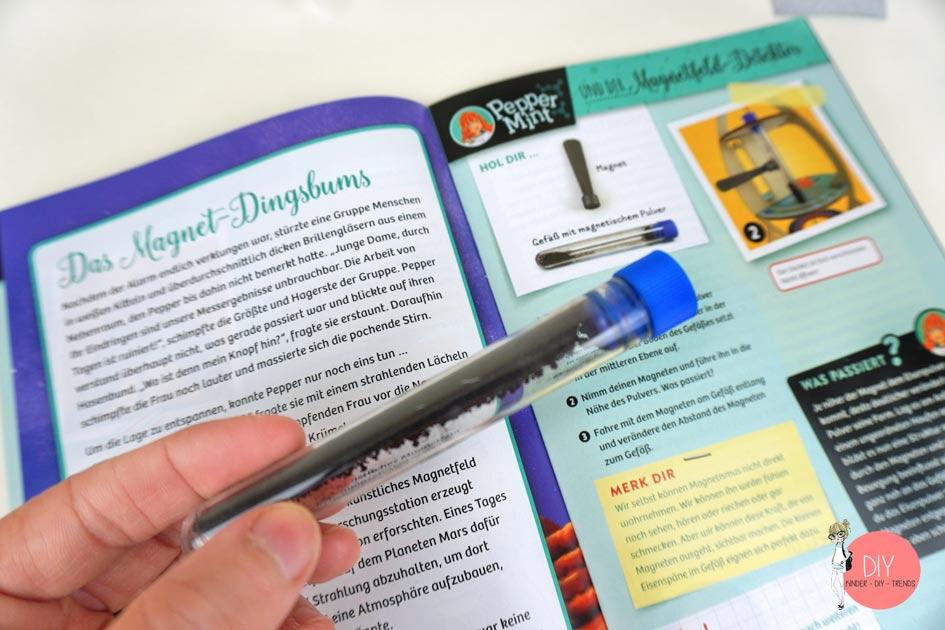 Anleitung zu Experimente mit Magnetpulver und Magnete