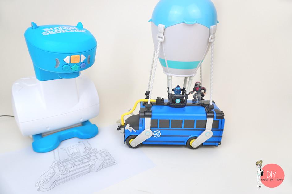Fortnite Bus zeichnen - Zeichnen lernen für Kinder