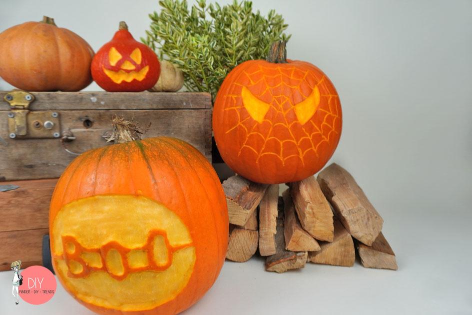 Halloween DIY Kürbis schnitzen mit dem Dremel LITE - Spiderman Kürbis, BOO und Gesicht schnitzen