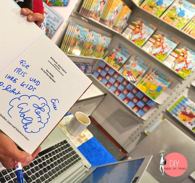 DIY Bloggerin Iris Käfer auf dem Stand von Herr Wolke auf der Frankfurter Buchmesse