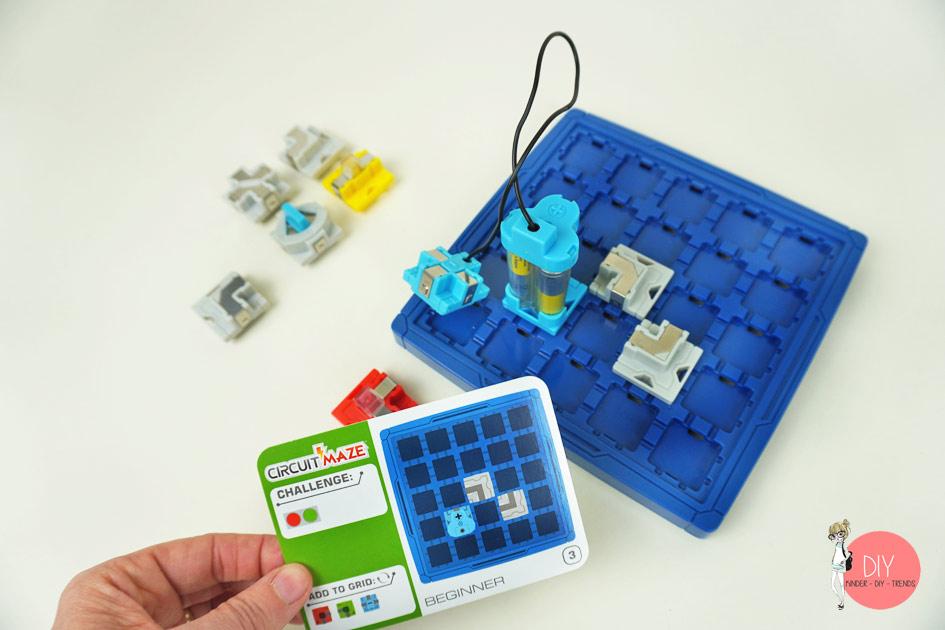 Aufbau Elektrik Spiel für Kinder Circuit Maze