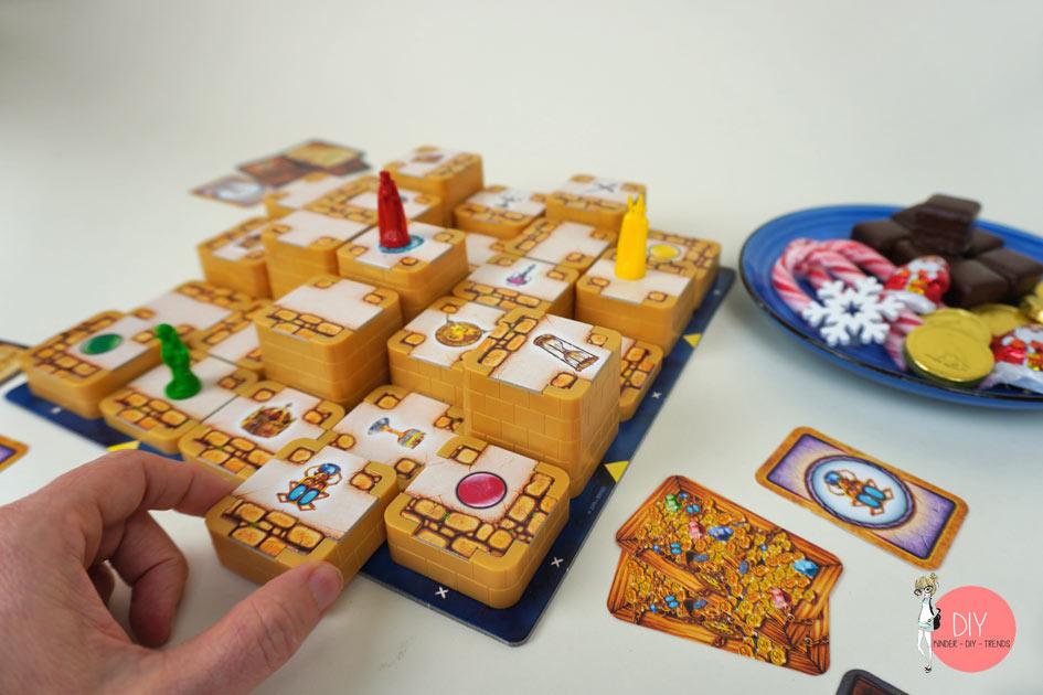 Spielzug bei 3D Labyrinth: Türme verschieben