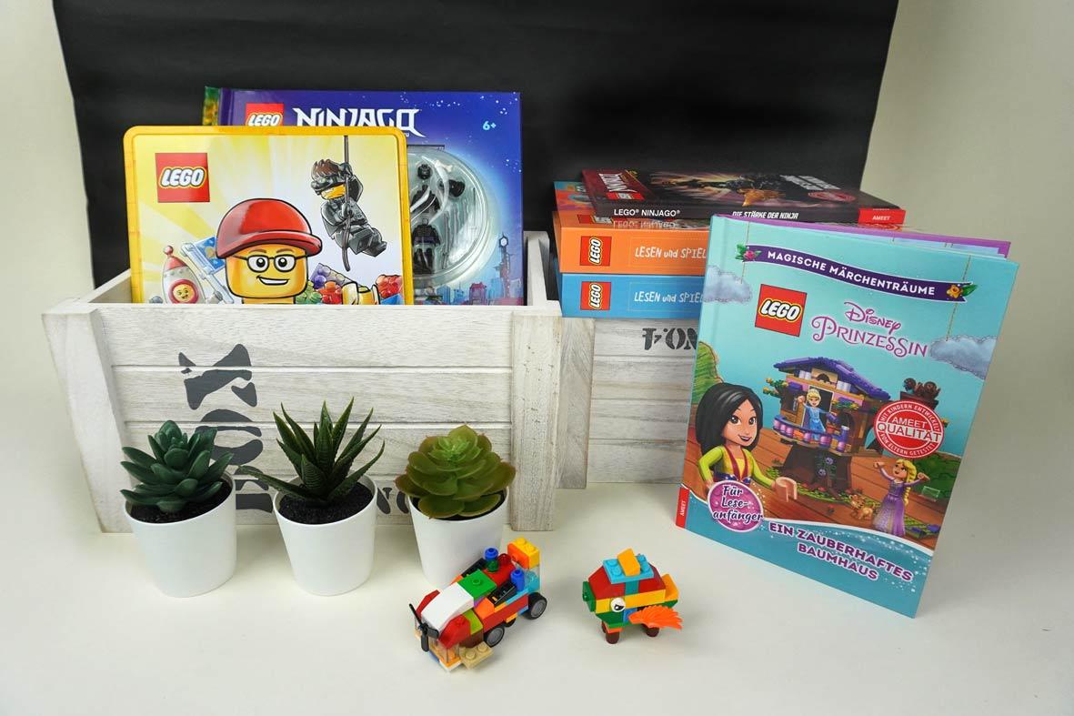 Bücher mit LEGO zum Spielen und Lesen aus dem AMEET Verlag