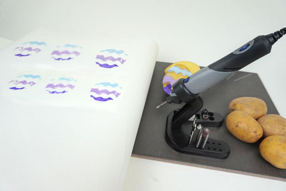 Kartoffeldruck mit Dremel Stylo+ - Maker Kids DIY