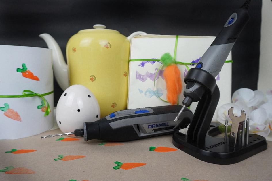 Bastelidee mit Werkzeug DREMEL LITE und DREMEL STYLO+ zu Ostern: Stempel DIY