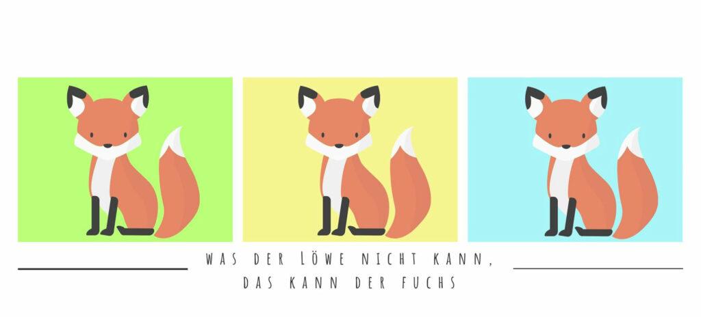 Fuchs drei Bilder - Titelbild