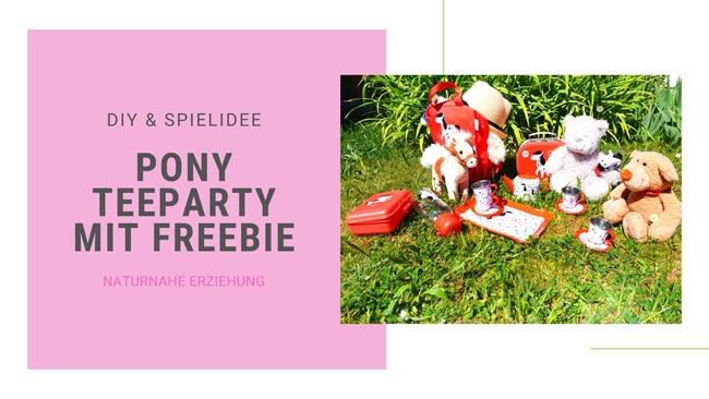 Teeparty im Garten mit Freebie Einladung basteln