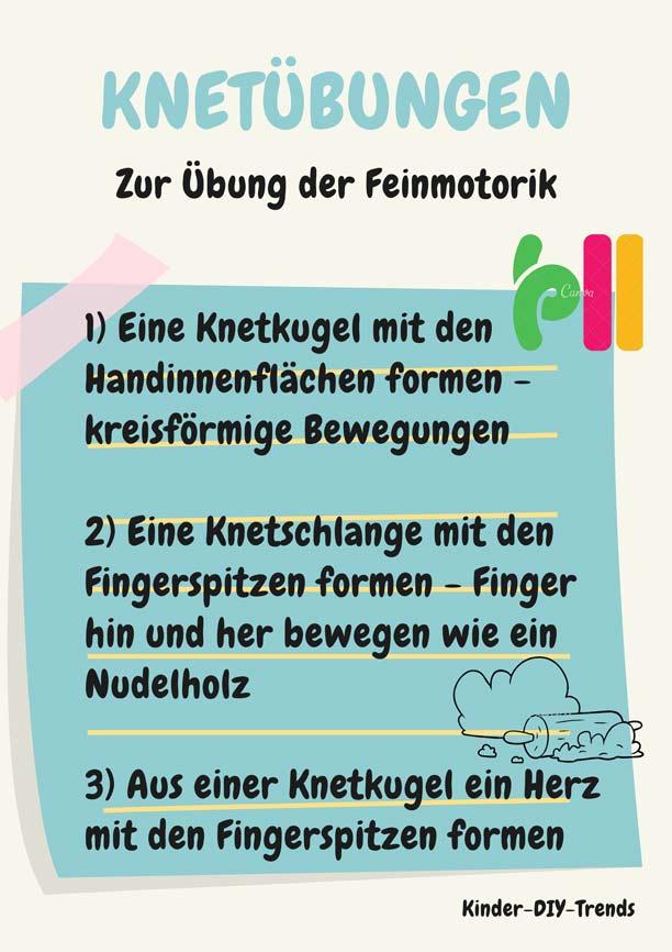Infografik Kreativität Förderung - Feinmotorik Fingerübungen