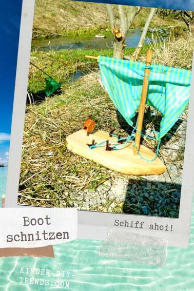 Anleitung Holzboot Schnitzen Bausatz KOSMOS mit Kindern