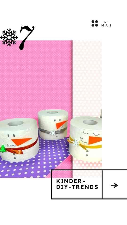 Schneemann aus Toilettenpapier basteln