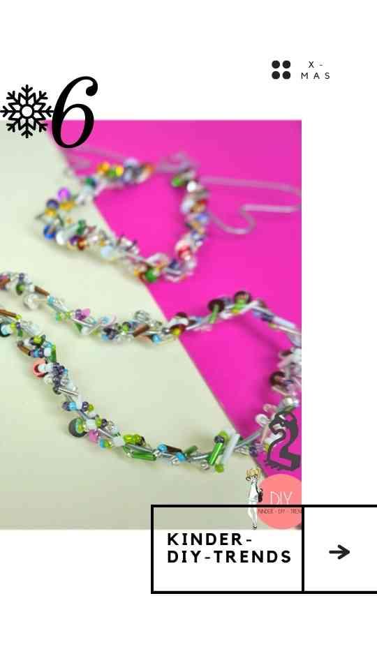 Weihnachtsbaumanhänger mit Perlen Selber basteln