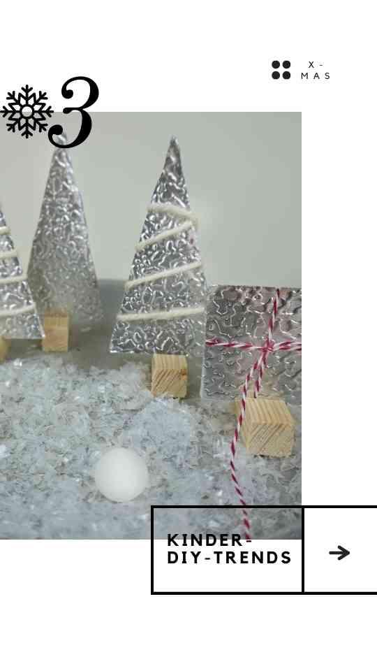 Winterwald Weihnachtsbaum aus Blech und Holz basteln
