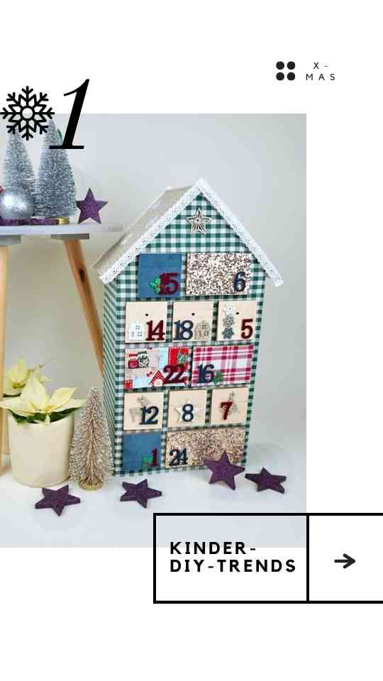 Adventkalender selber basteln - mit Stoff und Holz