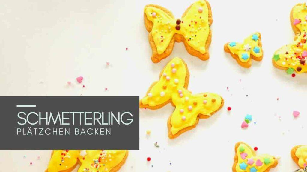 Sommerferien Idee für Kinder: Schmetterling Kekse
