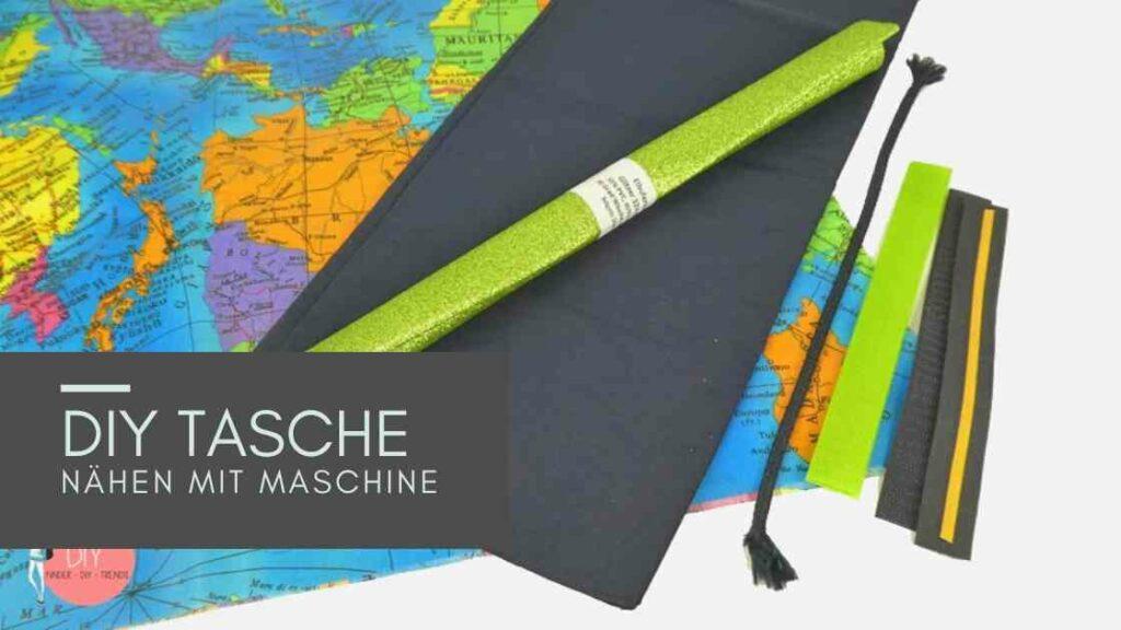 Sommerferien Idee für Kinder: Landkarten Tasche nähen mit der Nähmaschine