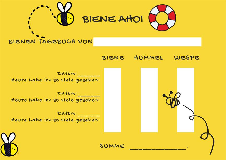 Sommerferien - mein kreatives Tagebuch: Beschäftigung Bienen beobachten