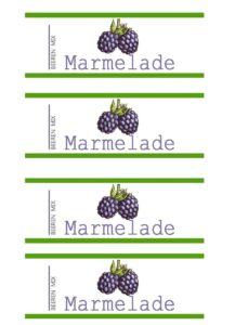 Gratis Etikett Beeren Marmelade Vorratsglas