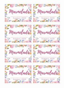 Gratis Etikett Marmelade Design Vorratsglas