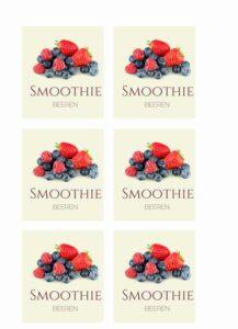 Gratis Etikett Smoothie Design modern Vorratsglas