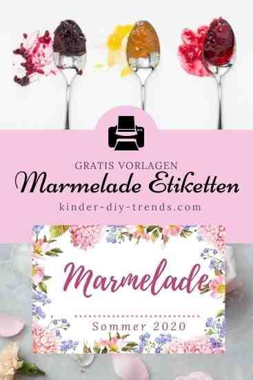 Gratis Etikett Marmelade Vorratsglas