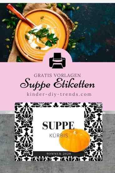 Gratis Etikett Suppe Vorratsglas