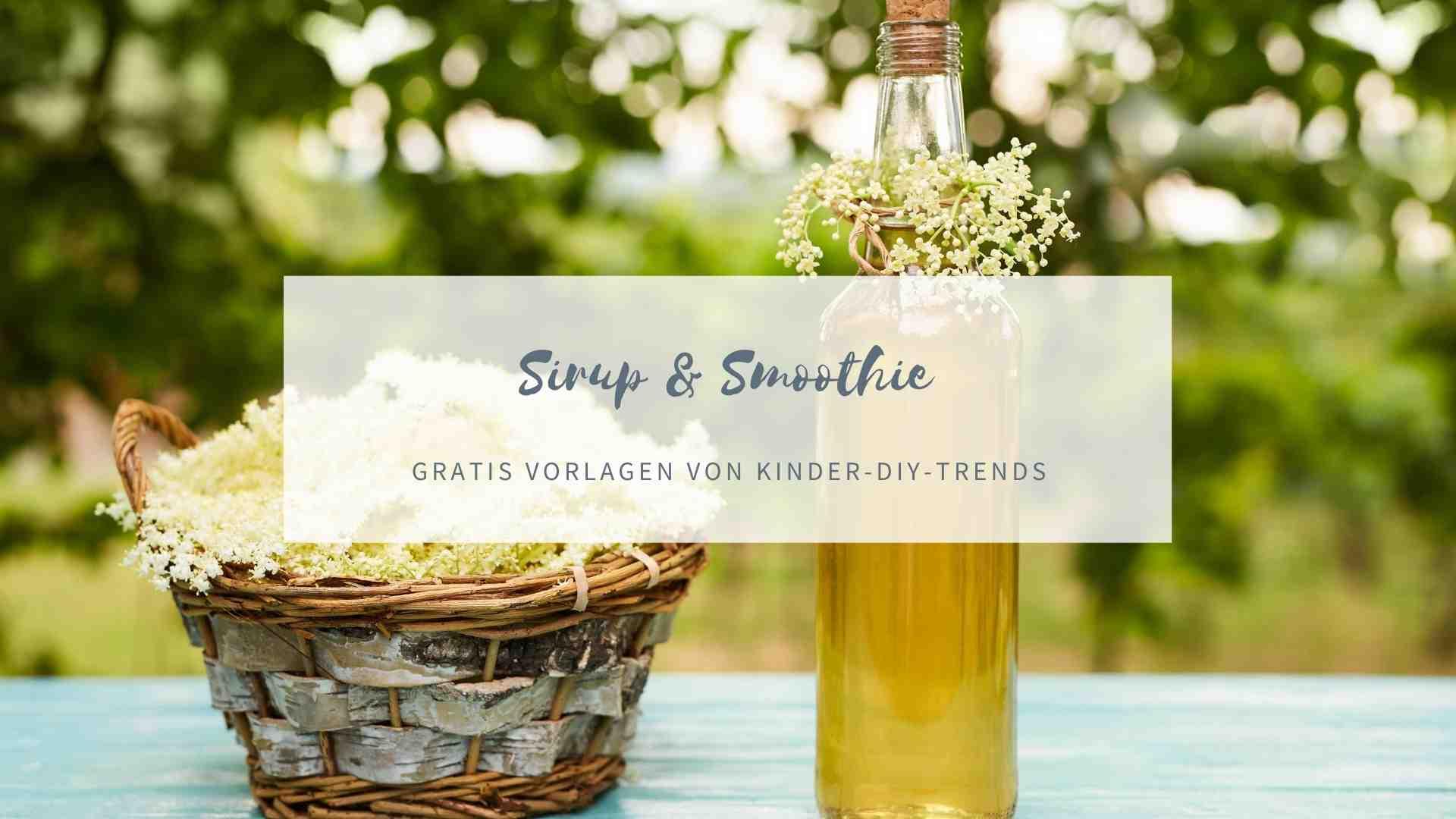 Sirup & Smoothie Etiketten zum Ausdrucken kostenlos