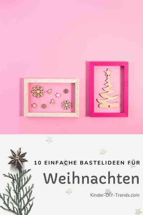Anleitung Weihnachten im Bilderrahmen Deko