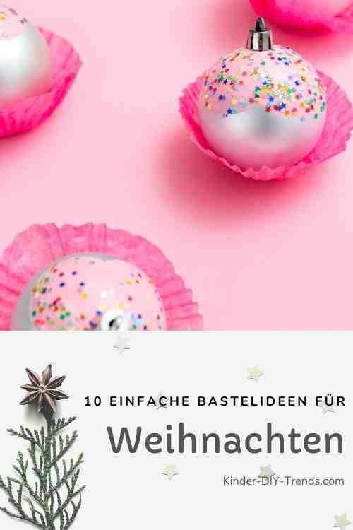 Anleitung Cupcake Weihnachtsbaumkugeln basteln