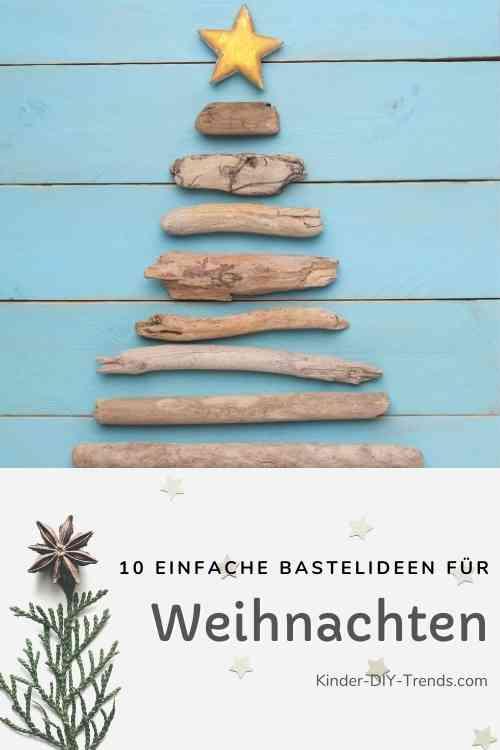 Anleitung Strandgut Weihnachtsbaum basteln