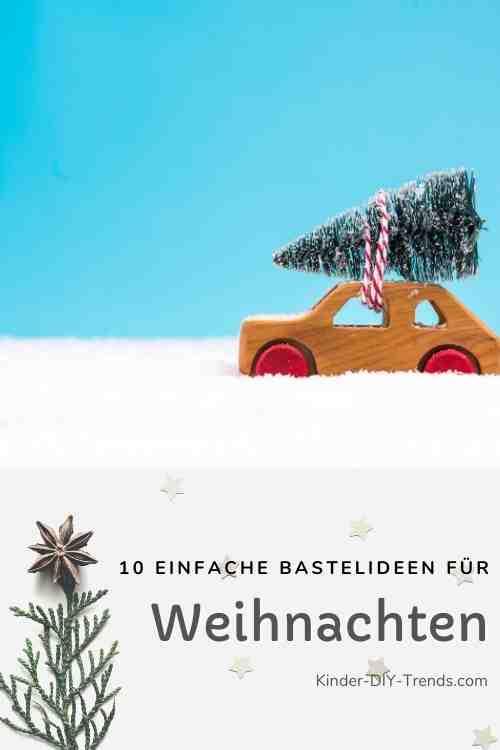 Anleitung Auto mit Weihnachtsbaum Deko basteln