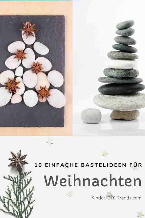 Anleitung Weihnachtsbaum aus Steine basteln