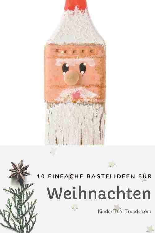 Anleitung Pinsel Weihnachtsmann Nikolaus basteln