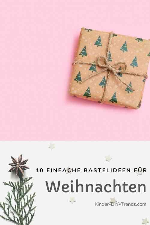 Geschenkpapier für Weihnachten selber machen: Tannenbaum stempeln
