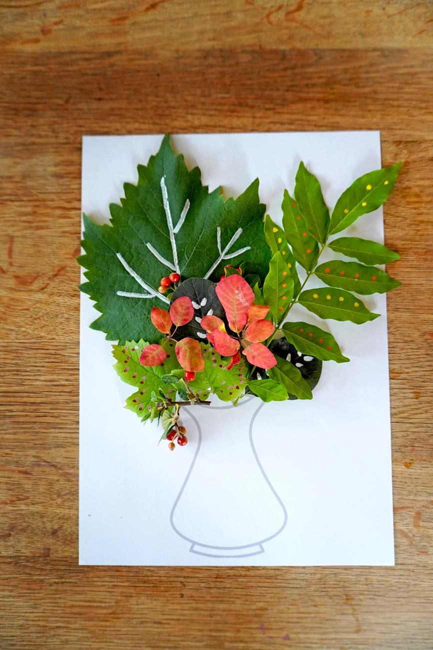 Vorlage ausdrucken für Blumen bemalen mit Acrylmarkern